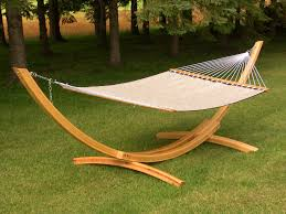 gray outdoor patio portable hammock stand wooden stands uk