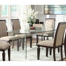 ... Remarkable Rectangular Glass Dining Table And Glass Top Dining Tables  With Glass Rectangular Tables Also Alouette ...