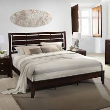 wood panel bed. Gloria Wood Panel Bed A