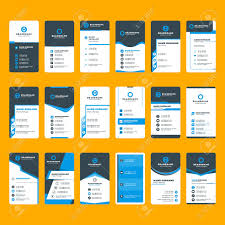Free Personal Cards Set Of Modern Business Card Print Templates Vertical Business