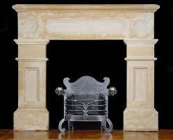 antique victorian stone fireplace mantel