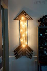diy room lighting. Reclaimed Barnwood Arrow Sign | DIY String Lights Room Decor Diy Lighting