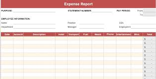 Expense Excel Template Printable Expense Report Template Simple Spreadsheets