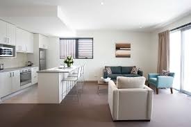 Kitchen And Granite Brown Flooring Tile With White Sofa Also Tosca Sofa Also Recessed