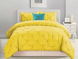 Best 25+ Yellow comforter set ideas on Pinterest | Grey chevron ... & 4 Piece Pinched Pleat Yellow Comforter Set Adamdwight.com