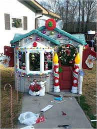 outdoor gingerbread house