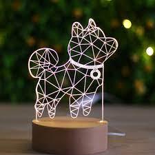 Đèn led 3D cún số 1 Kẻ Du Hành