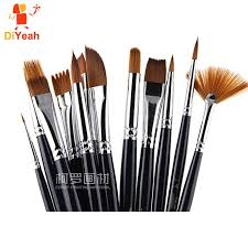 face paint brushes professional nylon hair paint brush set face painting makeup wooden handle for artist art supplies foundation makeup makeup brands