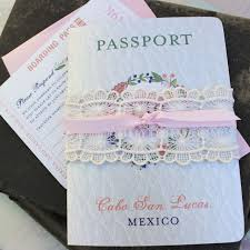 mexican wedding invitations. mexican wedding invitation passport invitations