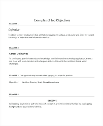 Generic Objective For Resume Generic Objectives For Resumes General Resume 100 Homey Design 32