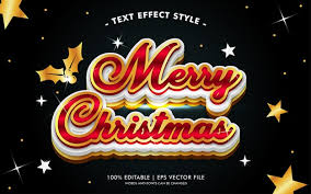 Premium Vector | Merry <b>christmas black</b> gold lights text effects <b>style</b>