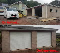 it s always good to get the job of fitting one of our roller garage doors in a new build home the walls and door aperture are new and perfect