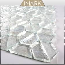 white glass mosaic tile for wall floor decorative tiles