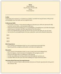 Best Ideas Of What To Put In The Profile Section Of Your Resume