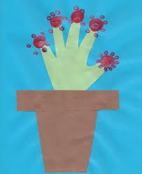 Paper Flower Pots Handprint Flower And Paper Flowerpot Craft