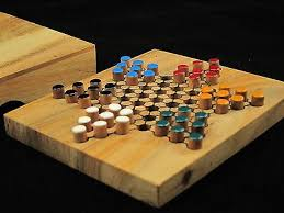 "Wooden Sequence Board Game CHINESE CHECKERS wooden travel board game 100100""x 1001003"" 100100 55"