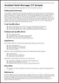 Sample Hotel Sales Manager Resume Hotel Resume Samples Assistant ...