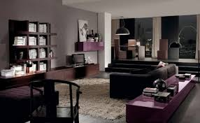 ... Room Gray Living Furniture Ideas Flat Screen Tv Wall Unit Black Chair  Home Decor Fascinating Picture ...