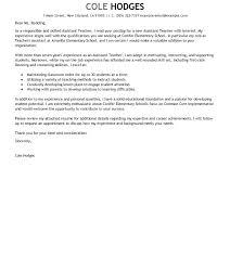 Sample Cv For A Teacher Resume Template For Teaching Position Grade Teacher Letter To