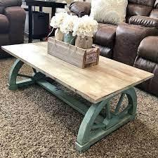 farmhouse coffee table design 27
