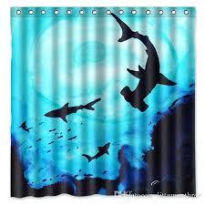 sea shower curtain shark deep sea design shower curtain size x cm custom waterproof polyester fabric bath shower curtains bath shower curtain bathroom