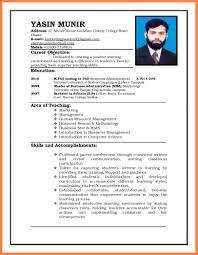 Sample Resume Format For Job Application For Teacher