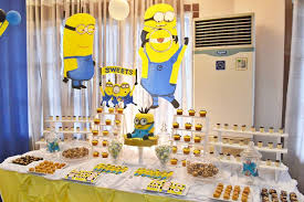 Minion Party Decoration Ideas Dessert Table