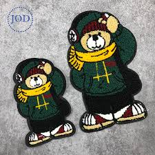 JOD Large Green Wool <b>Bear Patches</b> of Embroidery By Sew on For ...
