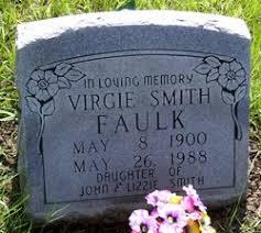 "Virgie ""Birdie"" Smith Faulk (1900-1988) - Find A Grave Memorial"