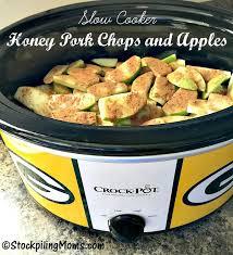 slow cooker honey pork chops and apples