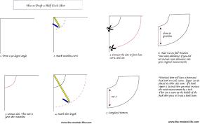Circle Skirt Chart Diy Half Circle Skirt Tutorial