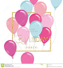 Festive Holiday Template With Colorful Balloons And Glitter Frame