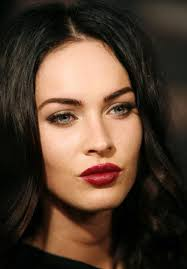 megan fox is famous for her dark hues of red lipstick makeup