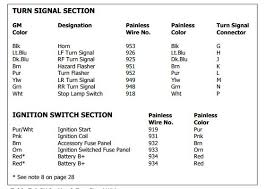 wiring diagram for gm steering column the 1947 present from painless manual
