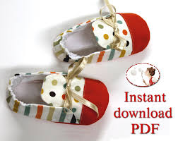 Baby Booties Sewing Pattern Extraordinary Instant Download Sewing Pattern Baby Paul By LenasShoePatterns