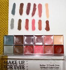 case 3 make up for ever 12 flash colors palette 2 cinema palette in my last