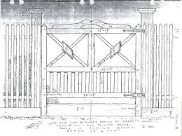 farm fence drawing. Figure 33, Paled Fence Painted White With Ornamental Gate Green, 19th Century. From The Singleton P. Moorehead Sketchbooks, Department Of Farm Drawing A