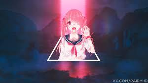 Anime wallpaper, anime girls, glitch ...