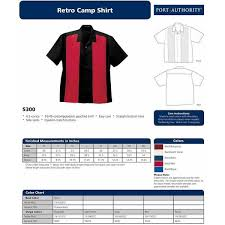 Port Authority Color Chart Port Authority S300 Retro Camp Shirt