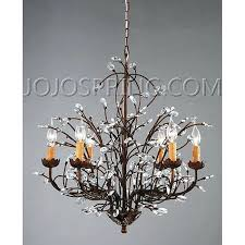 wrought iron crystal chandeliers antique bronze 6 light crystal and iron chandelier throughout bronze chandelier with