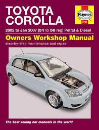 Toyota Corolla Petrol & Diesel (02 - Jan 07) Haynes Repair Manual ...