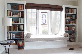 built in shelves around window