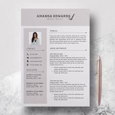 Modern Resume Template Word Templates For Free Print Creative Cv