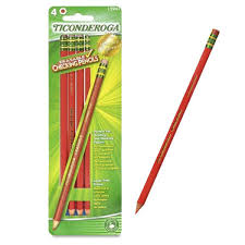 Red Checking Ticonderoga Red Checking Pencils 4 Ct For The Classroom