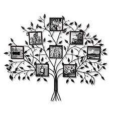 amazon adeco pf0566 family tree black metal wall hanging decorative collage picture photo frame 8 openings 4x4 each black with antique finish  on tree photo collage wall art with amazon adeco pf0566 family tree black metal wall hanging