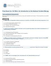 Is 700 B Test Pdf Final Exam For Is 700 B An Introduction