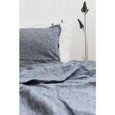 linen duvet cover dark blue