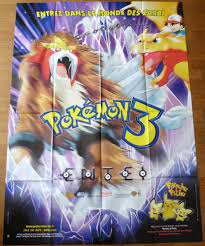 pokemon 3 le sort des zarbi de Kunihiko Yuyama - affiche originale de film  format 120 x 160 cm