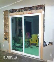 installing patio door