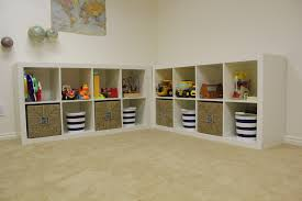 Calm Toys On Wall Together With Cream And Ikea Toy Storage Filled Also  Children Room Ideas